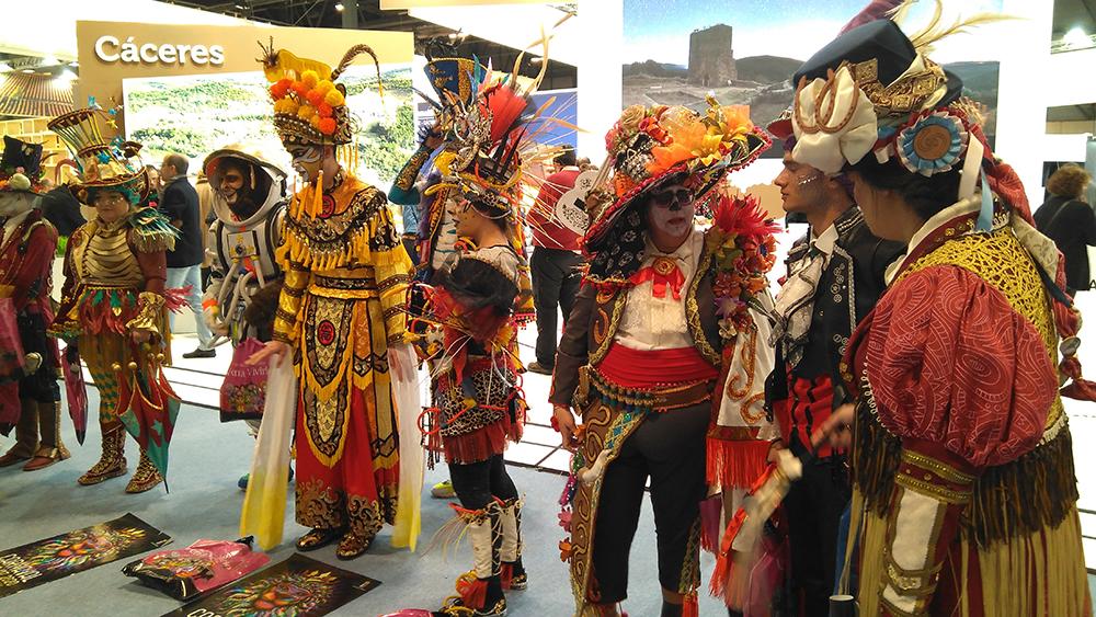 Representación del carnaval de Cáceres en FITUR 2020
